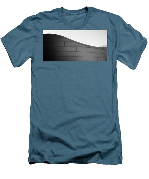 Men's T-Shirt (Slim Fit) featuring the photograph Urban Wave - Abstract by Steven Milner