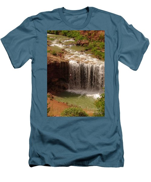 Vacation At Lower Navajo Falls Men's T-Shirt (Athletic Fit)