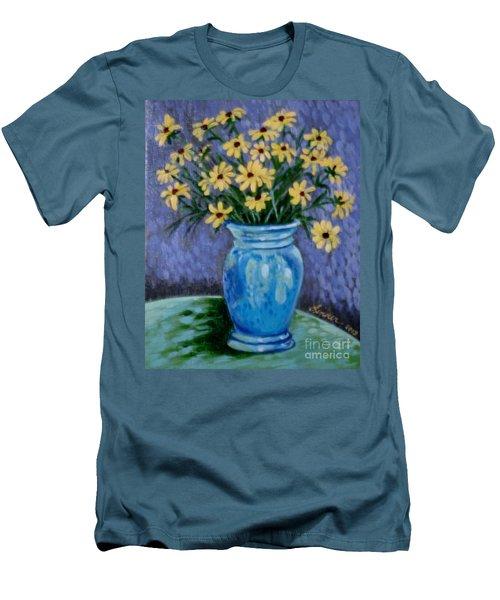 Van Gogh-ish Flowers In A Vase Men's T-Shirt (Slim Fit)