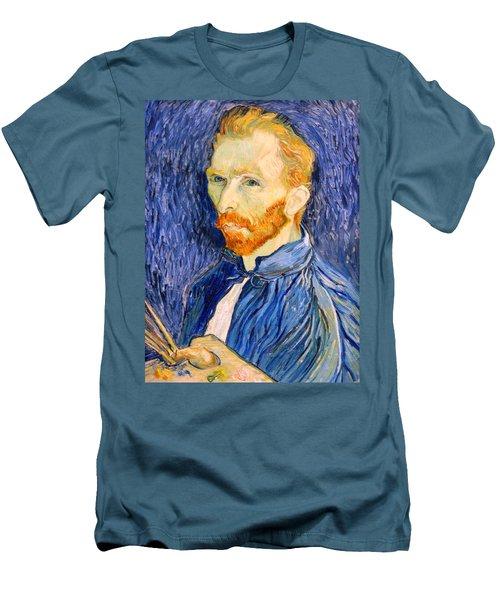 Men's T-Shirt (Slim Fit) featuring the photograph Van Gogh On Van Gogh by Cora Wandel