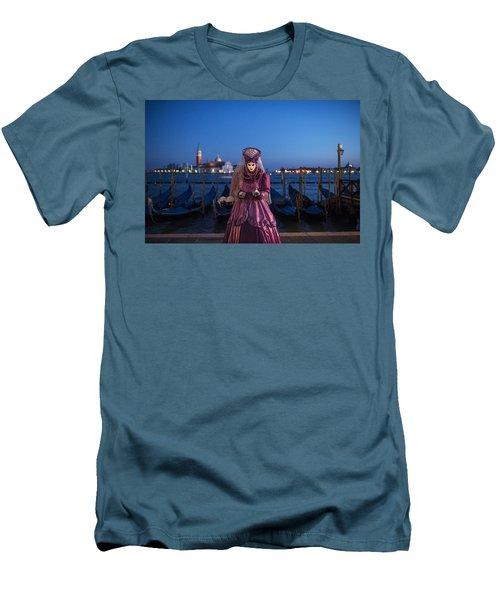 Venice Carnival '15 V Men's T-Shirt (Athletic Fit)