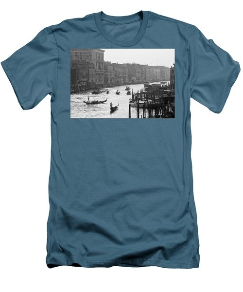 Venice Grand Canal Men's T-Shirt (Slim Fit) by Silvia Bruno