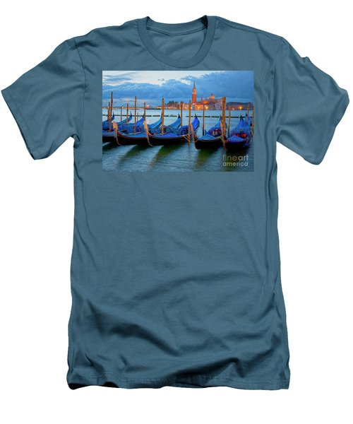 Venice View To San Giorgio Maggiore Men's T-Shirt (Slim Fit) by Heiko Koehrer-Wagner