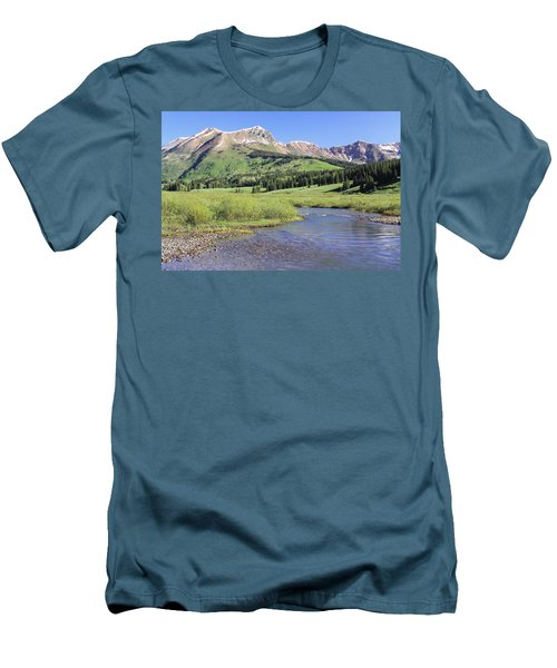 Verdant Valley Men's T-Shirt (Slim Fit) by Eric Glaser