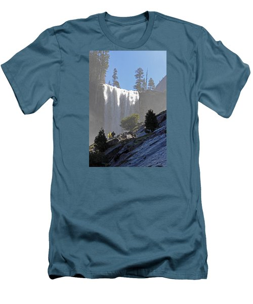 Vernal Falls Mist Trail Men's T-Shirt (Slim Fit) by Duncan Selby