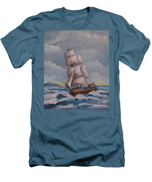 Vessel In The Sea Men's T-Shirt (Athletic Fit)