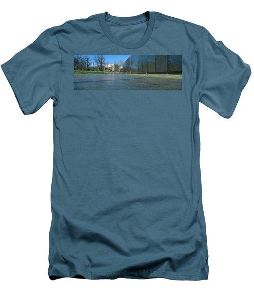 Vietnam Veterans Memorial, Washington Dc Men's T-Shirt (Slim Fit) by Panoramic Images