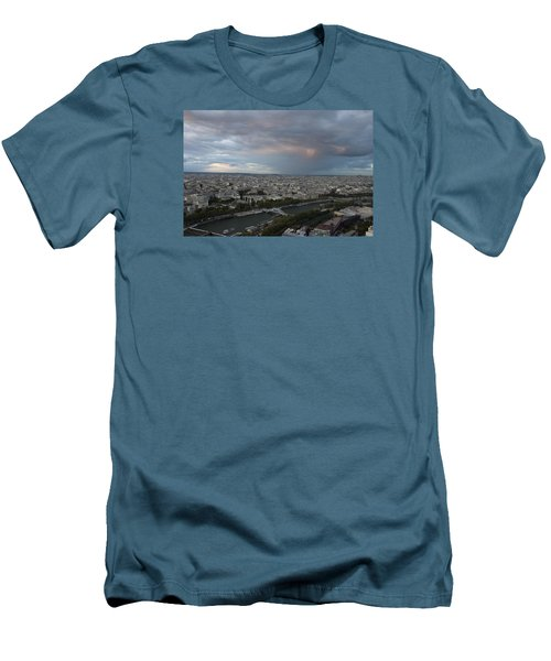 View Of Paris Men's T-Shirt (Athletic Fit)