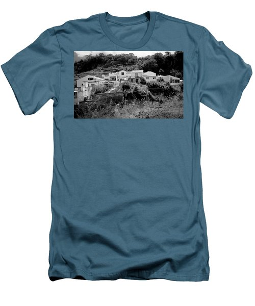 Village Nestled In The Hills  Men's T-Shirt (Athletic Fit)