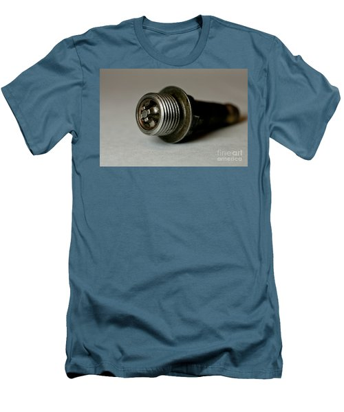 Men's T-Shirt (Slim Fit) featuring the photograph Vintage Spark Plug  by Wilma  Birdwell