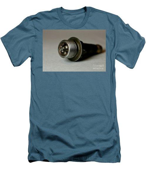 Vintage Spark Plug  Men's T-Shirt (Slim Fit) by Wilma  Birdwell
