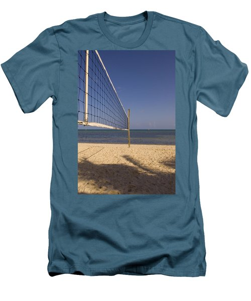 Vollyball Net On The Beach Men's T-Shirt (Athletic Fit)