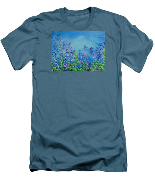 Walk Out Into The Fields Men's T-Shirt (Slim Fit) by Dan Whittemore