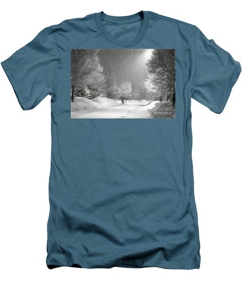 Winter Walk Men's T-Shirt (Slim Fit) by Les Palenik