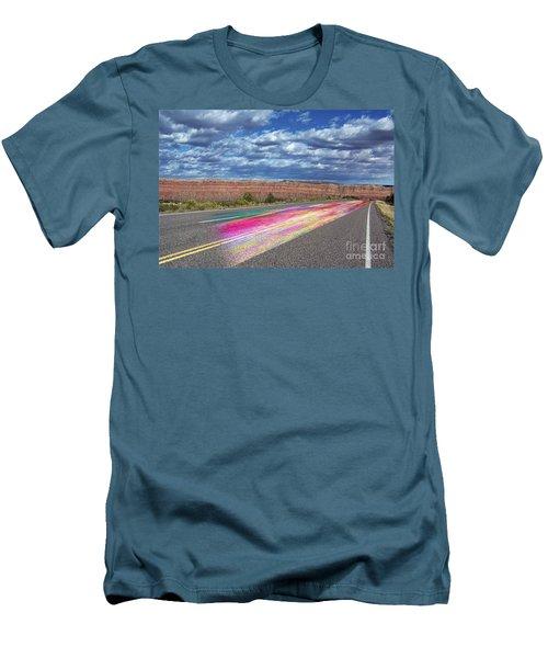 Walking With God Men's T-Shirt (Slim Fit) by Margie Chapman