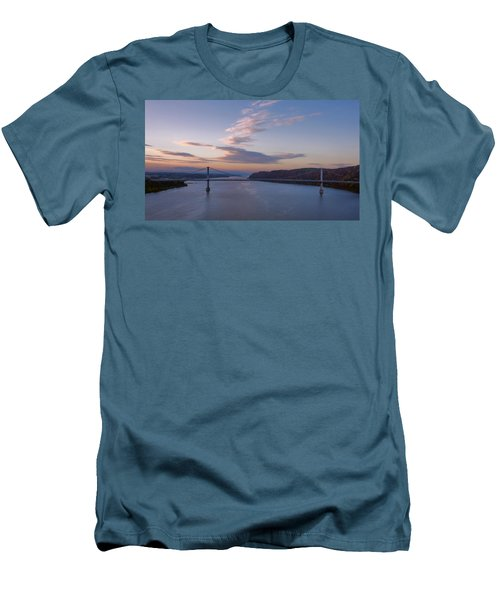 Walkway Over The Hudson Dawn Men's T-Shirt (Slim Fit) by Joan Carroll