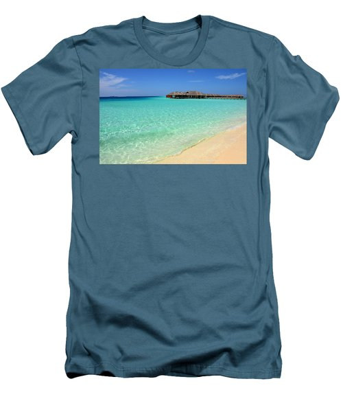 Warm Welcoming. Maldives Men's T-Shirt (Slim Fit) by Jenny Rainbow