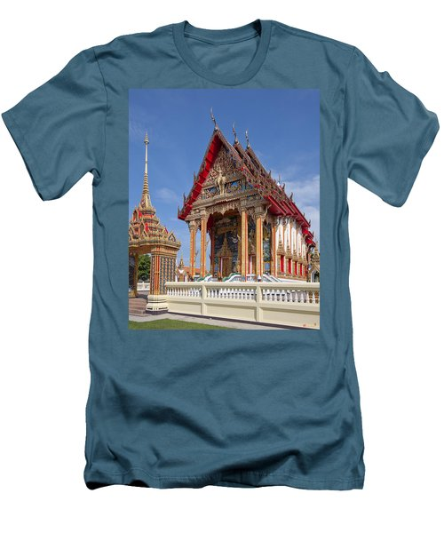 Men's T-Shirt (Slim Fit) featuring the photograph Wat Choeng Thalay Ordination Hall Dthp138 by Gerry Gantt
