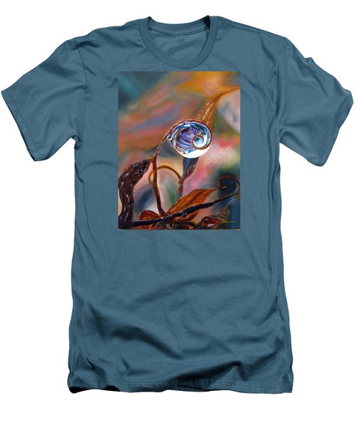 Water Drop Reflections Men's T-Shirt (Slim Fit) by LaVonne Hand