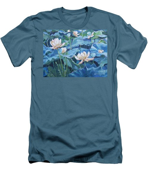 Water Lilies Two Men's T-Shirt (Athletic Fit)