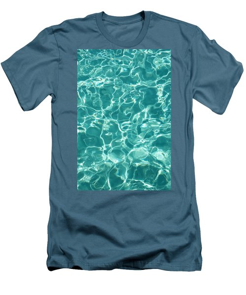 Water Meditation I. Five Elements. Healing With Feng Shui And Color Therapy In Interior Design Men's T-Shirt (Athletic Fit)