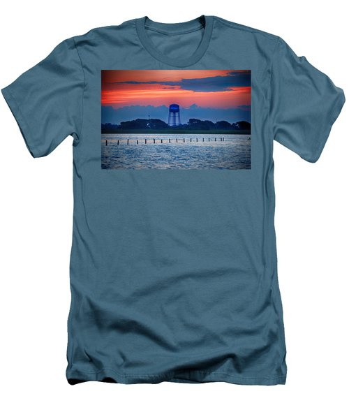 Men's T-Shirt (Slim Fit) featuring the digital art Water Tower by Michael Thomas