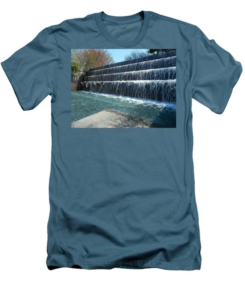 Men's T-Shirt (Slim Fit) featuring the photograph Waterfall Heaven by Emmy Marie Vickers