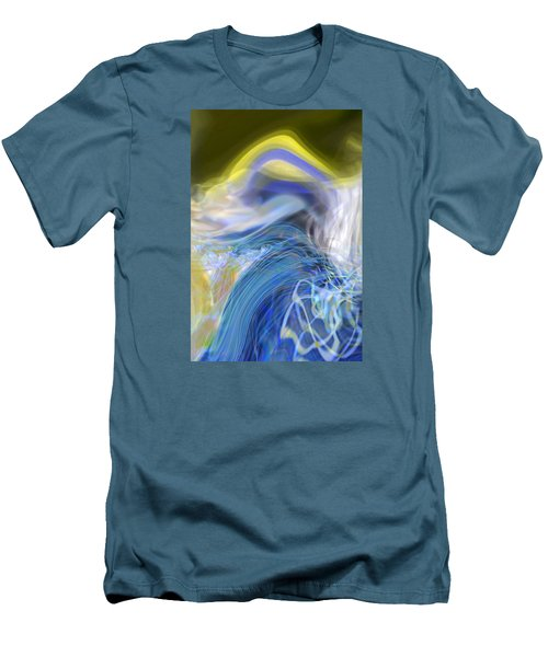 Men's T-Shirt (Slim Fit) featuring the digital art Wave Theory by Richard Thomas