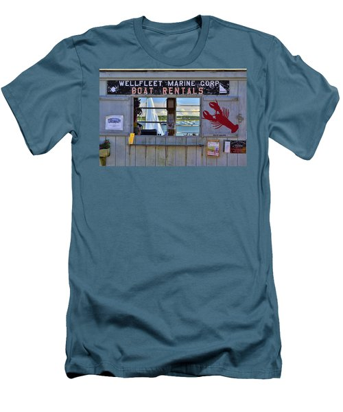 Wellfleet Harbor Thru The Window Men's T-Shirt (Slim Fit) by Allen Beatty