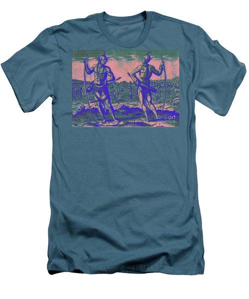 Weroans Of Virginia 1590 Men's T-Shirt (Slim Fit) by Peter Gumaer Ogden