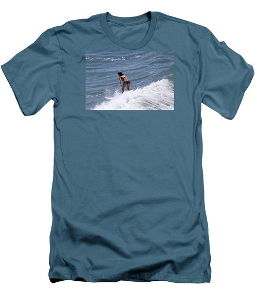 West Coast Surfer Girl Men's T-Shirt (Slim Fit) by Duncan Selby