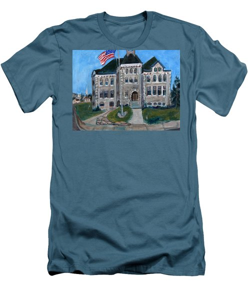 West Hill School In Canajoharie New York Men's T-Shirt (Slim Fit) by Betty Pieper