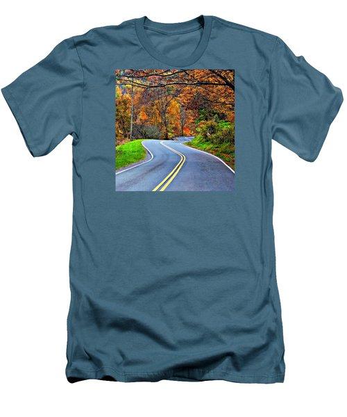 West Virginia Curves 2 Men's T-Shirt (Athletic Fit)