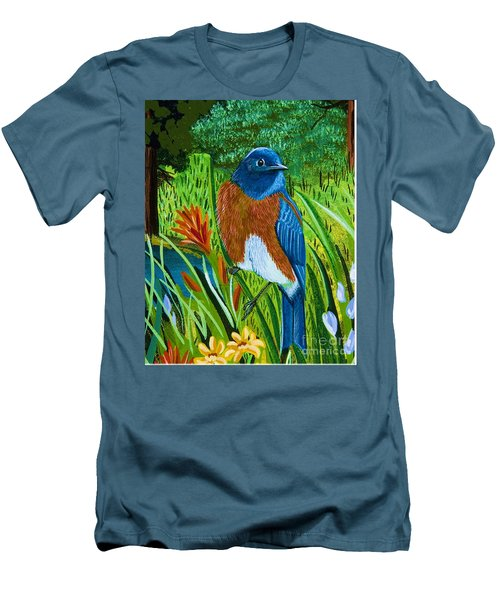 Western Bluebird Men's T-Shirt (Athletic Fit)