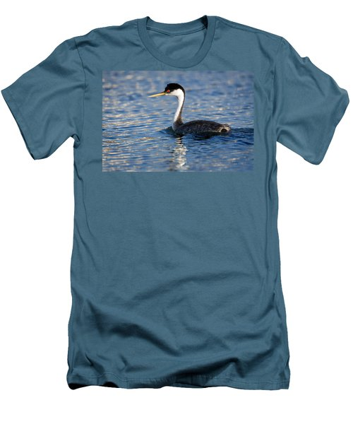 Men's T-Shirt (Slim Fit) featuring the photograph Western Grebe by Jack Bell