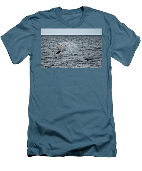 Men's T-Shirt (Slim Fit) featuring the photograph Whale Of A Time by Miroslava Jurcik