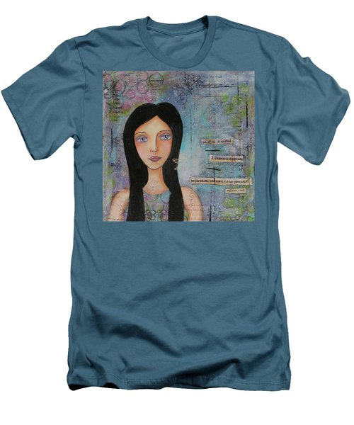 Men's T-Shirt (Slim Fit) featuring the painting What Is A Friend # 2 by Nicole Nadeau