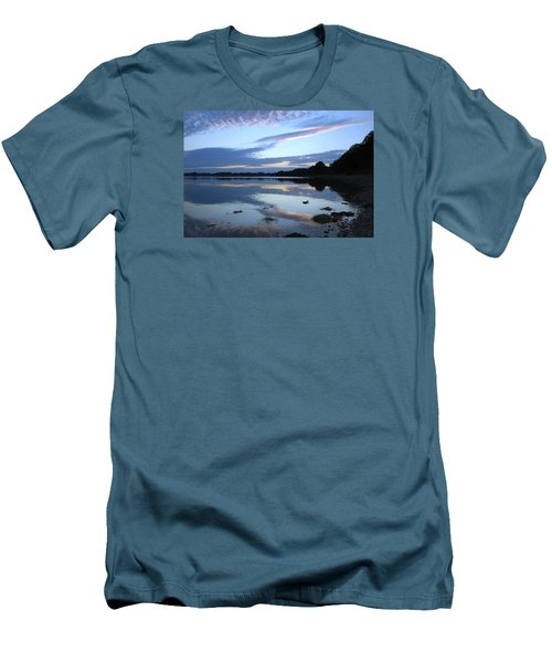Men's T-Shirt (Slim Fit) featuring the photograph When Gold Turned To Blue by Wendy Wilton