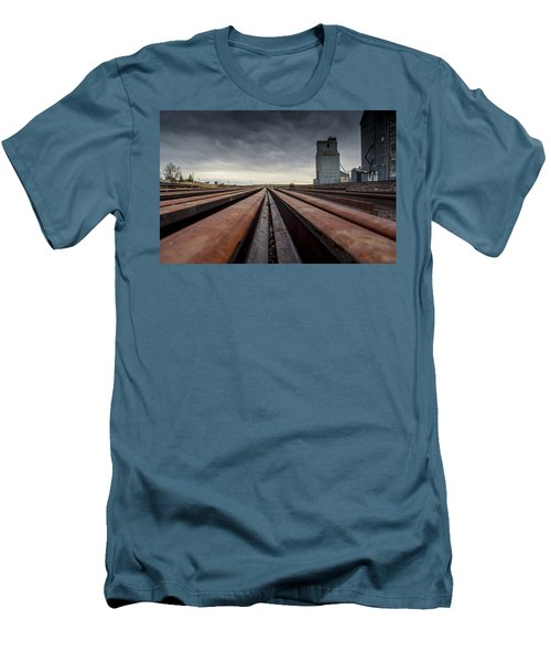 Where It Goes-2 Men's T-Shirt (Slim Fit) by Fran Riley