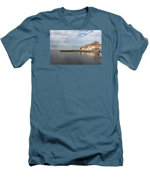 Men's T-Shirt (Slim Fit) featuring the photograph Whitby Abbey N.e Yorkshire by Jean Walker
