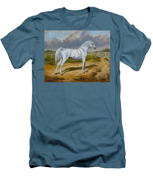 White Arabian Stallion Men's T-Shirt (Athletic Fit)