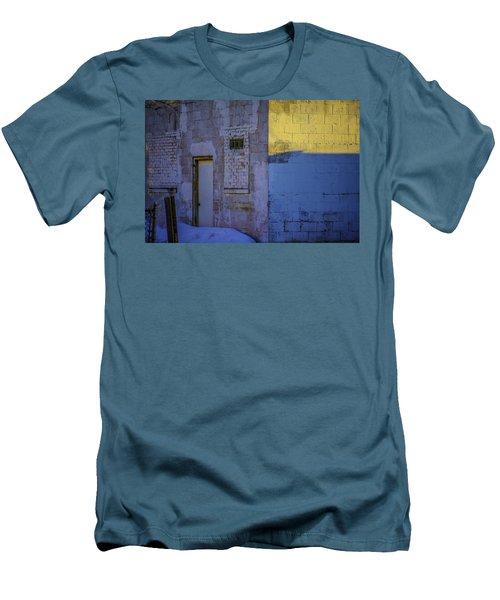 White Building Men's T-Shirt (Athletic Fit)