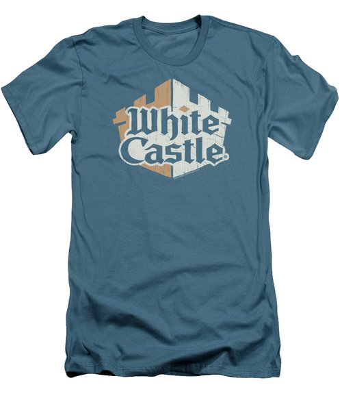 White Castle - Torn Logo Men's T-Shirt (Athletic Fit)