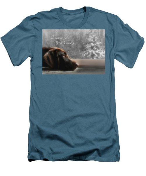 White Christmas Men's T-Shirt (Slim Fit) by Lori Deiter