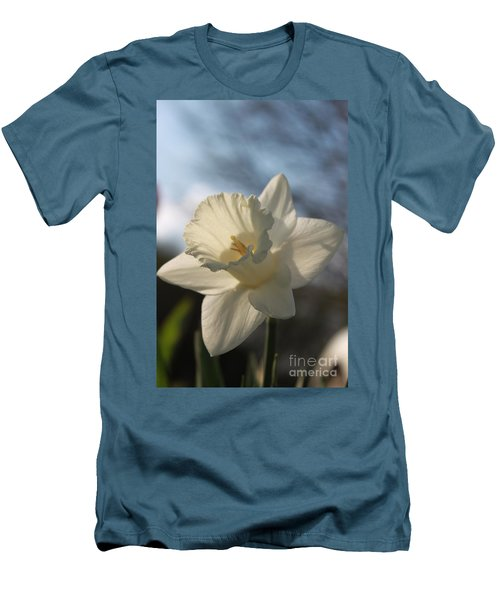 White Daffodil Men's T-Shirt (Athletic Fit)