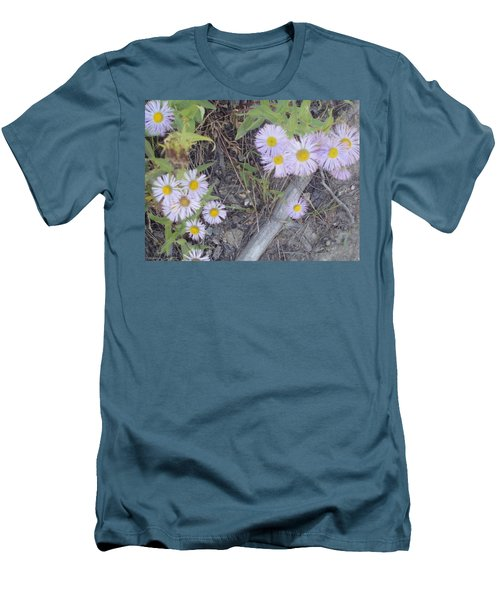 Men's T-Shirt (Slim Fit) featuring the photograph White In The Wild by Fortunate Findings Shirley Dickerson