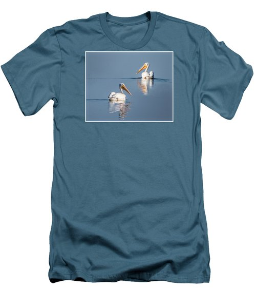 Men's T-Shirt (Slim Fit) featuring the photograph White Pelicans by Patti Deters