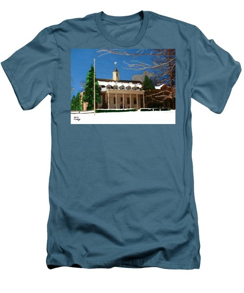 Whittle Hall In The Winter Men's T-Shirt (Athletic Fit)