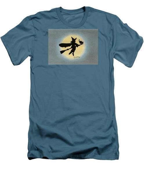 Men's T-Shirt (Slim Fit) featuring the drawing Wicked by Troy Levesque