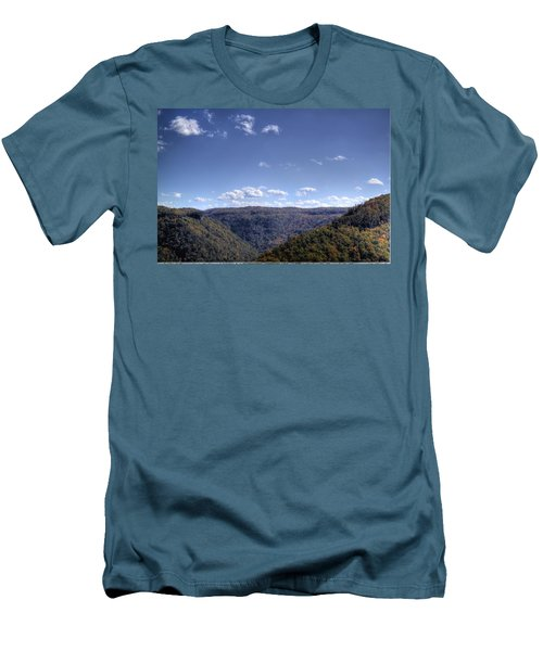 Wide Shot Of Tree Covered Hills Men's T-Shirt (Athletic Fit)